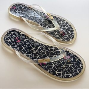 Lilly Pulitzer Shoes - Lilly Pulitzer Nautical Themed Flip Flops • Size 7